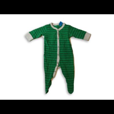 68-as zöld csíkos hosszúujjú pamut rugi - Next
