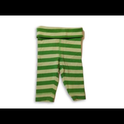 50-es zöld csíkos pamutnadrág - H&M