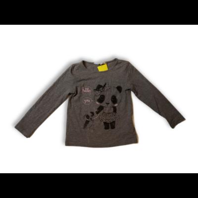 98-104-es szürke pandás pamutfelső - H&M