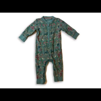 86-os zöld virágos hosszúujjú lábfej nélküli pamut rugi - Next