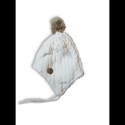 46-48 cm-es fejre fehér kötött sapka - H&M