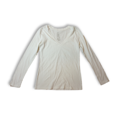 Női S-es fehér v-nyakú pamutfelső - GAP