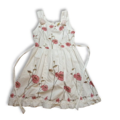 128-as fehér pipacsos ruha