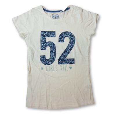 146-152-es fehér-kék számos lány póló - C&A
