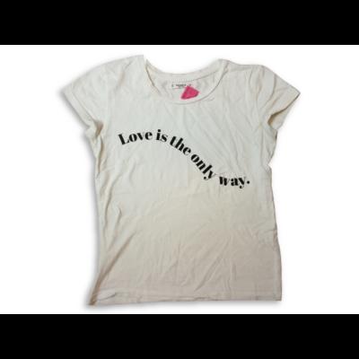 Női XS-es fehér feliratos póló - Pull&Bear