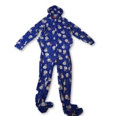 Férfi XL-es kék hóemberes szőrmés háziruha - Family Pjs