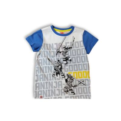92-es fehér-kék mintás póló - Ninjago - ÚJ