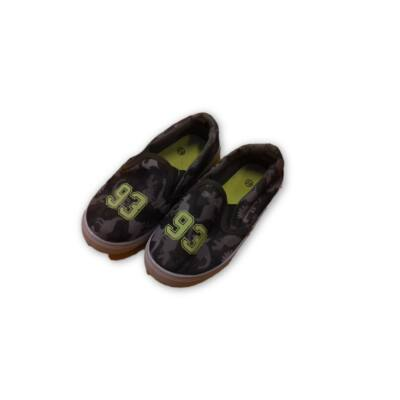28-as khaki terepszínű vászon bebújós cipő - X-Mail - ÚJ