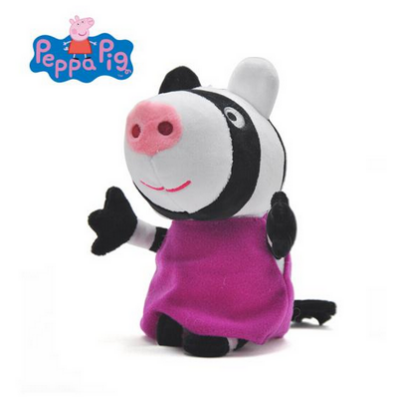 20 cm-es plüss Zoé Zebra - Peppa Pig - ÚJ
