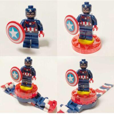 Amerika kapitány óra, figurával - ÚJ