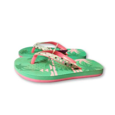 29-30-as zöld-pink flip-flop papucs - Decathlon - ÚJ