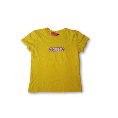 Női XS-es sárga feliratos póló - Bershka
