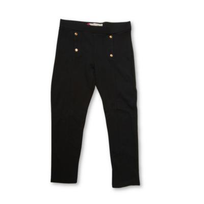 122-es fekete pamutnadrág - Zara