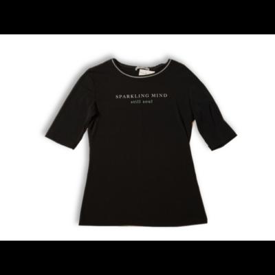 Női S-es fekete feliratos póló - Zara