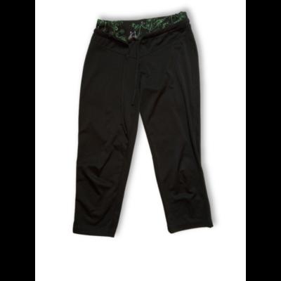 Női S-es fekete térdig érő sportnadrág, leggings