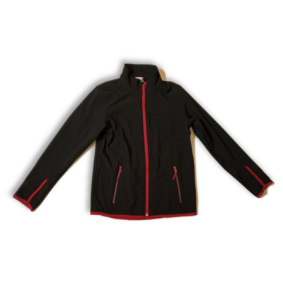 158-164-es fekete sportdzseki, átmeneti kabát - Crane