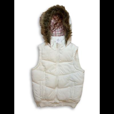 140-es fehér szőrmés kapucnis mellény - Young Dimension