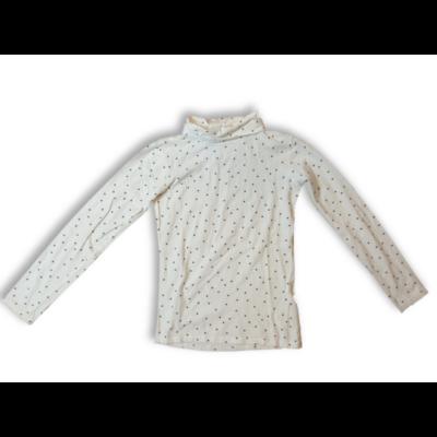 152-158 -as fehér csillagos garbónyakú pamutfelső - In Extenso
