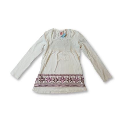 134-140-es fehér tunika jellegű pamutfelső - C&A