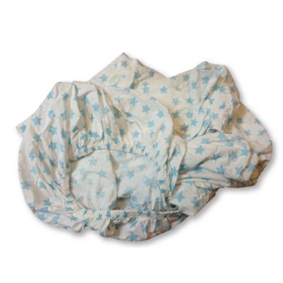 Fehér alapon kék csillagos gumis lepedő