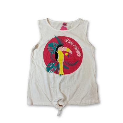 128-as fehér tukán madaras póló - Y.F.K - ÚJ