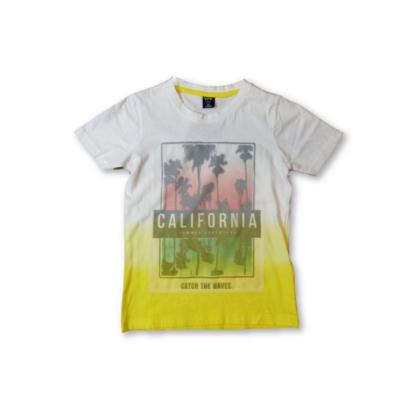 128-as fehér pálmafás póló - Y.F.K. - ÚJ