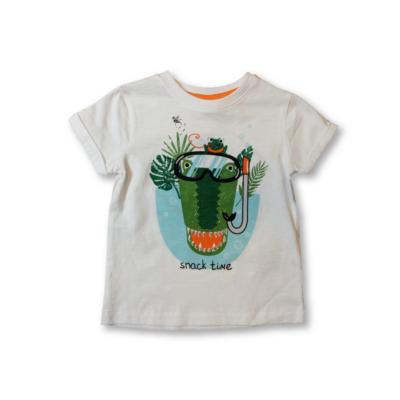 92-es fehér krokodilos póló - Kiki & Koko - ÚJ