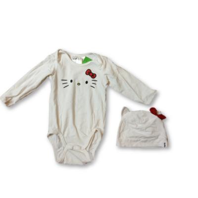 68-as fehér hosszú ujjú body sapkával - Hello Kitty - H&M