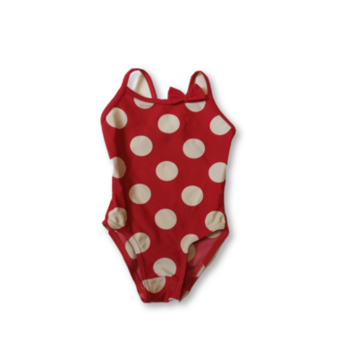 80-as piros-fehér pöttyös fürdőruha - George