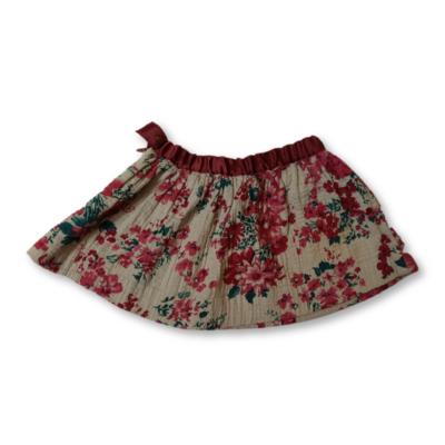 86-os bordó-szürke virágos szoknya - Zara