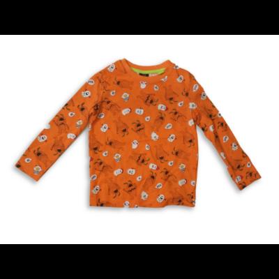 92-es narancssárga halloween-mintás pamutfelső - Kiki & Koko - ÚJ