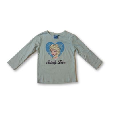 110-es kék pamutfelső - Frozen, Jégvarázs - ÚJ