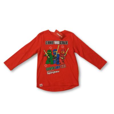 104-es piros pamutfelső - Lego Ninjago - ÚJ