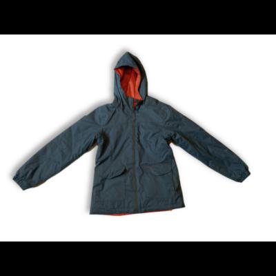 122-128-as szürke-narancssárga kifordítható kabát lánynak - Decathlon