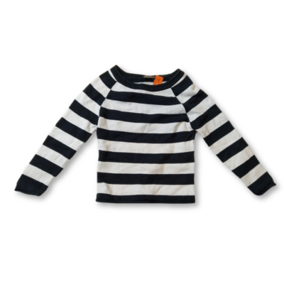 104-110-es fehér-fekete csíkos kötött pulóver - Cherokee