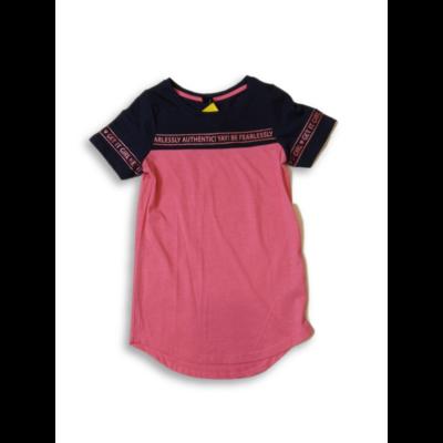 146-152-es kék-rózsaszín hosszított lány póló - Y.F.K - ÚJ