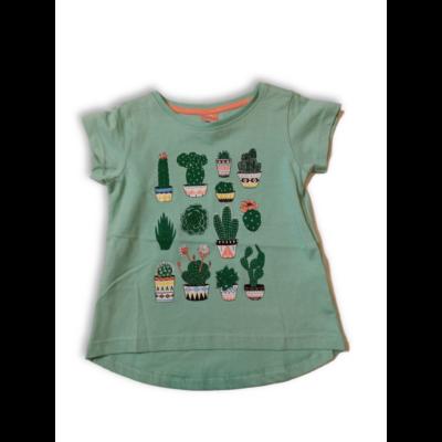 92-es zöld kaktuszos lány póló - Kiki & Koko - ÚJ
