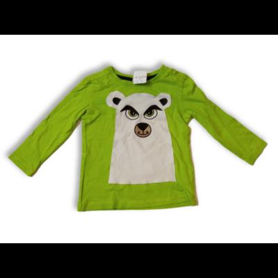 92-es zöld macis pamutfelső - Kiki & Koko