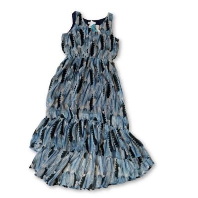 140-es kék mintás lenge ruha - H&M