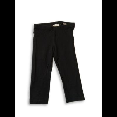 116-os fekete térdig érő leggings - H&M