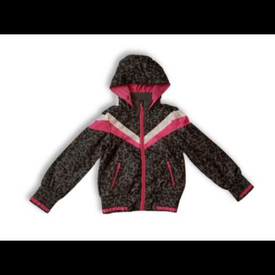 116-os szürke-pink leopárdmintás széldzseki, átmeneti kabát - Okay