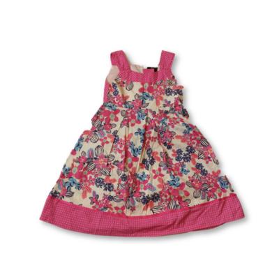 122-es pink virágos nyári vászonruha - F&F