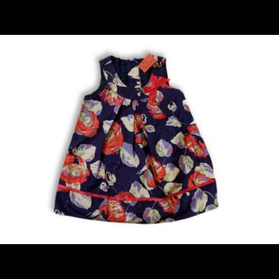 86-os kék virágos vászonruha - F&F