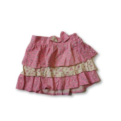110-116-os rózsaszín virágos farmervászon szoknya - F&F