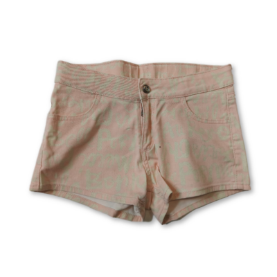 152-es rózsaszín feliratos farmer rövidnadrág, short - H&M