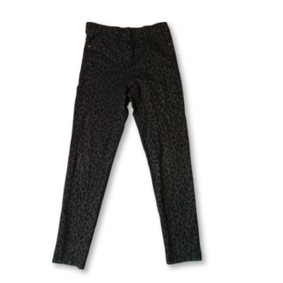 122-128-as szürke leopárdmintás leggings jellegű nadrág