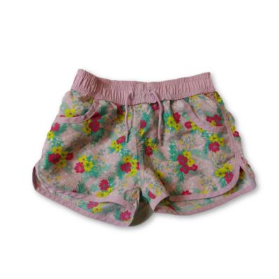 128-as rózsaszín virágos short, rövidnadrág - Y.F.K.