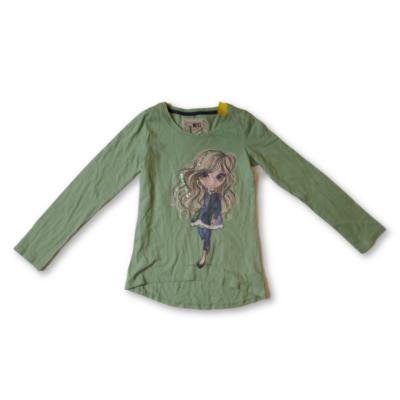 152-es zöld lányos pamutfelső - Next