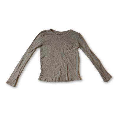 146-os szürke bordás lány pamutfelső - Reserved