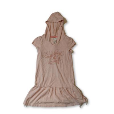 122-128-as rózsaszín kapucnis pamut ruha - H&M